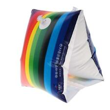 2 Model Rainbow Inflatable Swim Rollup Arm Bands Rings Floats Tube Armlet