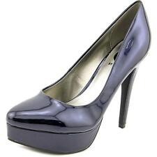 G By Guess Sofia Women  Open Toe Patent Leather Blue Platform Heel