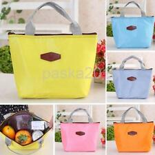 Insulated Lunch Storage Box Picnic Food Tote Travel Bento Bag 5 Colors