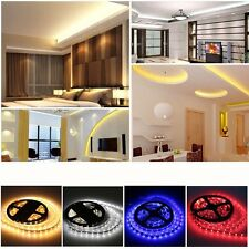 5M 300LEDs RGB SMD 3528/5050 LED Strip lights 5A/2A Power Supply 24/44key Remote