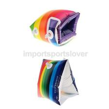 2 Model Rainbow Inflatable Swimming Rollup Arm Bands Rings Floats Tube Armlets