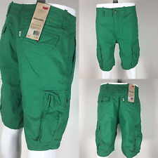 124630032 NWT Levi's MEN'S Relaxed Fit Cargo Shorts Green Premium Cotton short