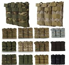 M4 M16 5.56 Triple Magazine Pouch Open Top MOLLE Mag Ammo Bag Tactical Hunting