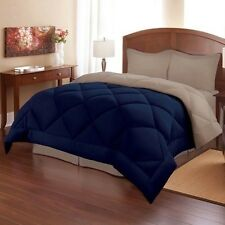 NEW Twin Full Queen King Bed 3 pc Blue Stone Reversible Comforter Shams Set NWT