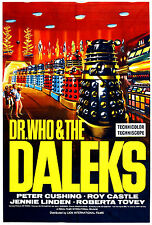"""Dr WHO & THE DALEKS"" .Peter Cushing Roy Castle TV Movie Poster A1 A2 A3 A4Sizes"