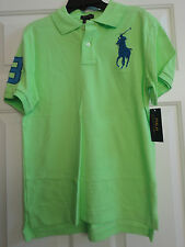 NWT Ralph Lauren Boys' Big Pony Polo. Size:Large.MSRP: $45.00. Vivid Lime