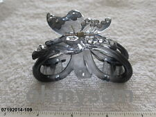 NEW BLACK PLASTIC LARGE JAW HAIR CLIP / CLAW / COMB/ MULTI COLOR  BUTTERFLY TOP