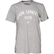 adidas Mens MUFC Manchester United Graphic T-Shirt  Grey RRP 19.99£