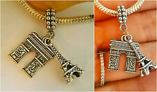 France Landmark Paris Eiffel Tower Travel charm pendant F/Euro Bracelet necklace