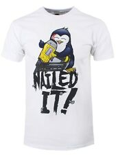 Psycho Penguin Nailed It! Men's White T-shirt