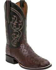 Lucchese M2699 WF Mens Sienna Full Quill Ostrich Western Horseman Cowboy Boots