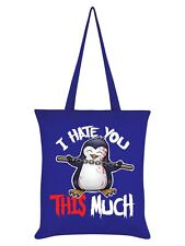 Psycho Penguin I Hate You This Much Royal Blue Tote Bag