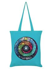 Stained Glass Spectroscope Azure Blue Tote Bag 38x42cm