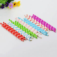 25Pcs Colorful Heart Paper Drinking Straws Vintage Birthday Wedding Xmas Party