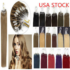 "50g 16"" 18"" 20"" 100s Remy Easy Loop Micro Ring 100% Real Human Hair Extension"