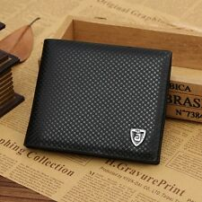 Men Leather Wallet Casual Bifold Credit Card Holder Brand Money Clip Wallets New