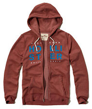 Nwt Hollister By Abercrombie & Fitch Men Full Zip and Pullover Hoodie Burgundy