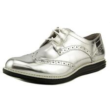 Cole Haan OriginalGrand Wingtip Oxford Women  Patent Leather Silver Oxford