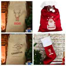 PERSONALISED CHRISTMAS STOCKING or SANTA SACK Childrens Stockings or Gift Sacks