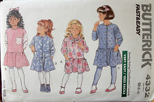 Butterick 4332 Sewing Pattern Children's Dress Uncut, Size Variations