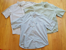 Columbia and LL BEAN Lot of  Mens Short Sleeve Shirts Size XL ALL Excellent!