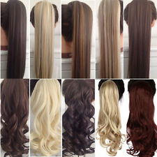 Beauty lady Ponytail Wrap Around Clip In Ponytail Hair Extensions curly straight