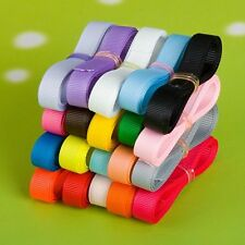 """5/10/50/100 yards 3/8"""" 9mm party sewing bow solid grosgrain DIY ribbon lot decor"""