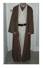oversized taupe brown  hooded cloak with sleeves. jedi
