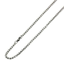 Men's 3.6mm Stainless Steel Chain Necklaces Round Box Chain / Gift box