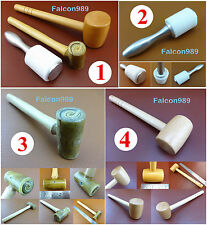 4kind Leather Craft Water Buffalo Rawhide Wooden Nylon Wooden Mallet Hammer Tool