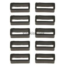 10Pcs Black Silicone Rubber Watch Strap Retaining Small Hoop 3 Size Buckle Loop