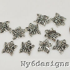 14x12mm Silver Pewter Butterfly Finding 10 pcs (EP36)a ~ Lead-Free ~