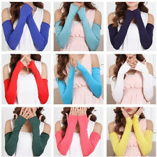 New 20 Color Cosy Women Girl Arm Warmer cotton Long Fingerless Gloves Fashion
