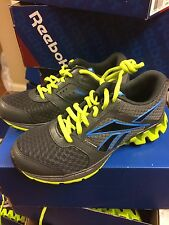 "New Kids Zigtech""Zigkick Alpha"" Running Shoes Gray/Green/Blu V53720"