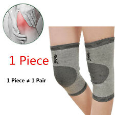 1x Brace Protector Bike Support Charcoal Knee Gym Guard Kneecap Bamboo 2016
