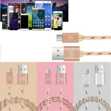 Braided Micro USB Fast Data&Sync Charger Cable Cold For Samsung Galaxy S6 S7 Lot