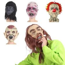 Creepy Latex Head Mask Cosplay Animal Halloween Party Costume Theater Prop E4R4