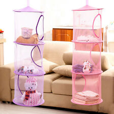 3 Shelf Hanging Storage Net Kids Toys Organizer Bag Bedroom Wall Door Closet