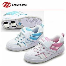 HEELYS KIDS ROLLERS WHEEL TRAINERS SIZE SHOES SKATES BOYS GIRLS WHITE BLUE