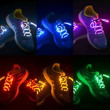 Multicolor LED Light Up Flash Shoelaces Shoestring Glow Stick String Party Disco