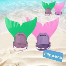 NEW Kid Girls Monofin Flippers Swimming Bathing Suit Mermaid Tails Pool Toy Prop