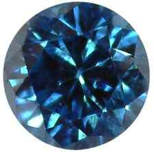 NATURAL EXTRA FINE RICH TEAL BLUE DIAMOND - ROUND BRILLIANT - AFRICA - 1MM - 4MM