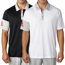Adidas 2016 Climacool® Sleeve Blocked Lightweight Mens Golf Polo Shirt