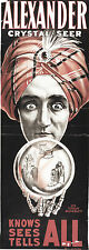 Theatre Advertising Poster Alexander Crystal Seer Knows Sees Tells All Mentalist