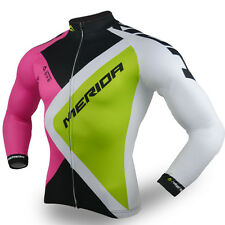 Cycling Long Jersey Merida Winter Men's Bike Shirts Cycle Jacket Top S-XXXL