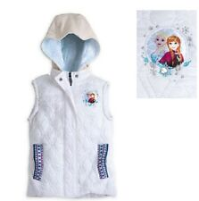 NWT Disney's Frozen Vest Jacket Hooded Quilted Lined Anna and Elsa Girls sz 2, 4