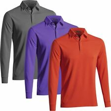 Mizuno 2016 Breath Thermo Drylite Training  Mens Long Sleeve Golf Polo Shirt