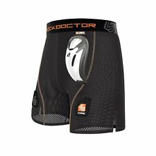 New Shock Doctor Core Youth Mesh Hockey Shorts & BioFlex Cup w Velcro For Socks