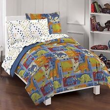 NEW Boys Comforter Set Bedding Twin Full Bed Sheets Reversible Dinosaurs Dino