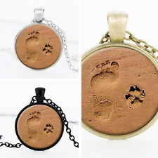 Hot Jewelry Paw Print Pendant New Dog Lover Dog Paw and Paw Necklace Footprint
